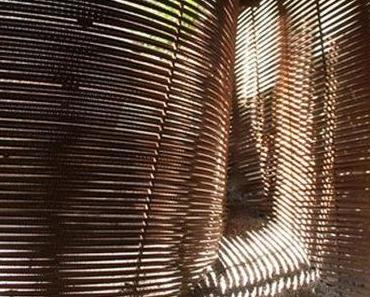 Geflecht aus Stahl – Gartenschuppen & Komposter aus Bewehrungsstäben