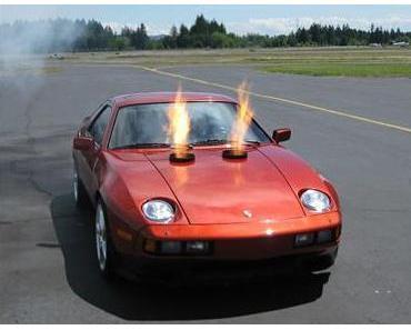 Ebay verkauft Porsche 928 mit Jet-Triebwerk um 15.000 Dollar