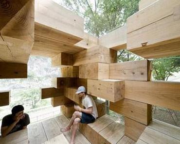 Wohnen zwischen, unter, auf… Holz