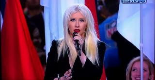 Christina Aguilera blamierte sich beim Superbowl