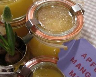 Köstliches selbstgemachtes Apfel-Mango-Mus mit Vanille