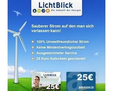Ökostrom Nutzen und 25€ Bar oder als Amazon Gutschein sichern.
