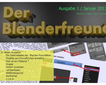 Neues kostenloses PDF-Magazin für Einsteiger in die 3D-Software Blender