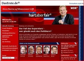 Dr. strg. c. Guttenberg und seine Unterstützer - heute: die ARD