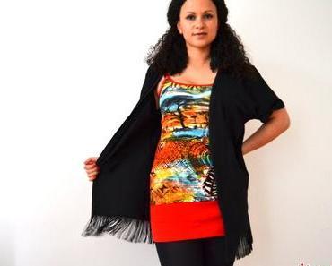 DIY Upcycling T-Shirt mit Fransen nähen – Hippie / Boho Fransenweste selbst machen