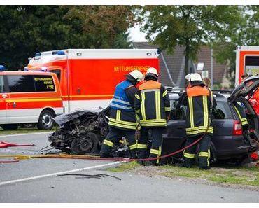 Autounfall Dahmen – Vier Schwerverletzte