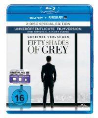 Blu-ray zu 50 SHADES OF GREY nach dem Roman von E. L. James