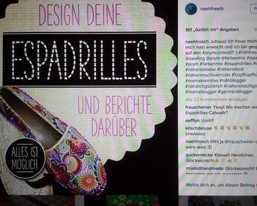 Espadrilles – Nähfrosch's Beitrag zum Prymcontest!