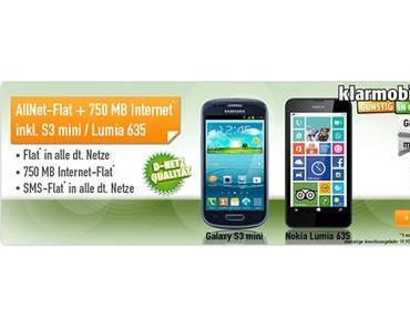 Mobilfunk Angebot: LTE Allnet Flat mit Smartphone für 14,85 Euro mtl.!