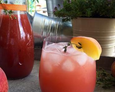 Pfirsich-Thymian-Limonade – Die hausgemachte Erfrischung auf LAPATIsserie