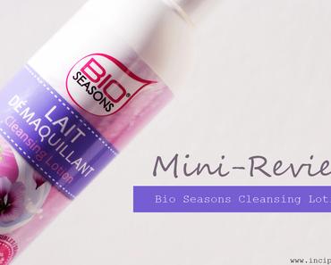 Mini-Review   Bio Seasons Reinigungsmilch