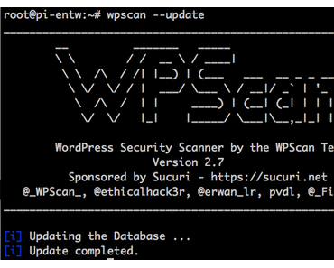 Kali Linux: WordPress Security Scanner wpscan