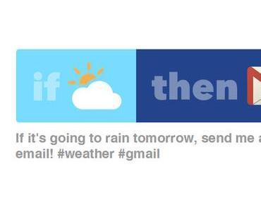 Warnungs  Mail senden wenn es schlechtes Wetter gibt
