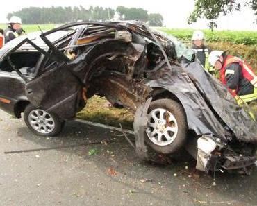 Verkehrsunfall Bergen – Frau hat Schutzengel