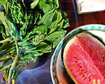 Melone, Feta und Spinat – der perfekte Sommersalat