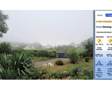 Bretagne 2015 – 3. Tag: Von Nebel, Strand-Erholung und Sonnenbränden