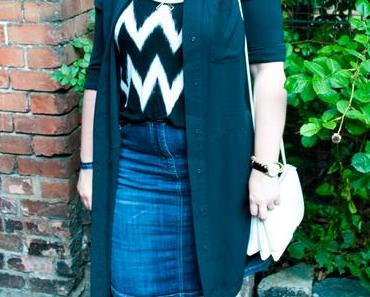 Outfit: Black Stripes in a Garden