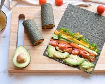 Gemüse Sushi mit Himmlischer Sauce