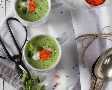 Kalte Gurken-Kefir-Suppe