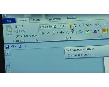 So ändert man die Schriftgröße in Microsoft Word