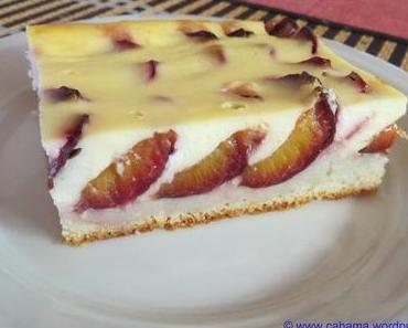 Zwetschgenkuchen mit Quarkcreme