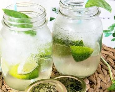 Basilikum-Limetten Limonade