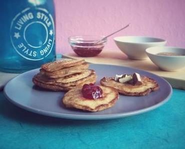 Amerikanische Dinkel Pancakes zum Frühstück