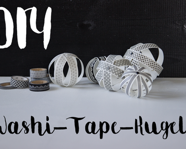 DIY Washi-Tape-Kugeln