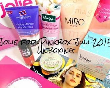 Jolie for Pinkbox Juli 2015 – Unboxing