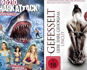 "Review: 90210 - SHARK ATTACK IN BEVERLY HILLS & GEFESSELT- LIEBE.EHRE.GEHORSAM. – Im Fahrwasser von ""Sharknado"" und ""Fifty Shades of Grey"""