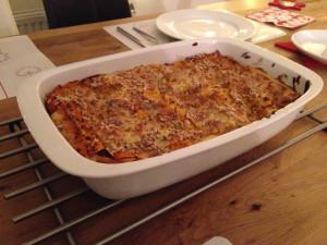 Cremige Kürbis-Lasagne