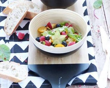 Früchte Salat mit Mangold & Hirse