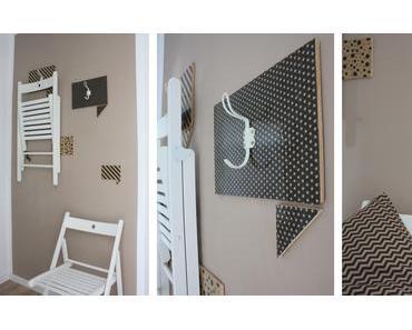 IKEA HACK: Terje Klappstühle dekorativ verstaut