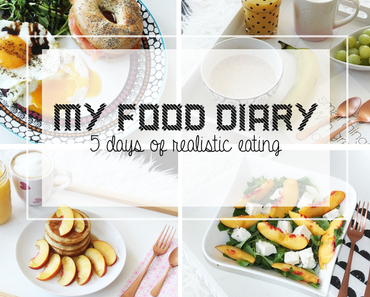 My Food Diary - 5 Days of realistic Eating