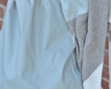 Rucksack selbstgenäht und Dreieckstuch ( Werbung )