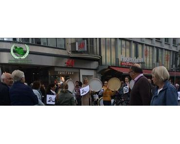 Flashmob für M.A. Tâheri in Hannover