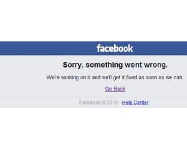 Schon wieder Ausfall bei Facebook