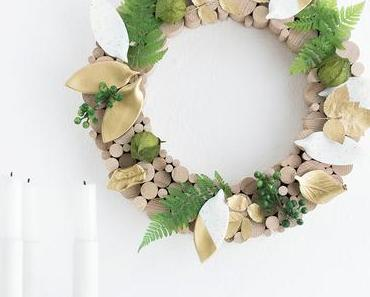Herbst-Kranz mit Fimo Blättern