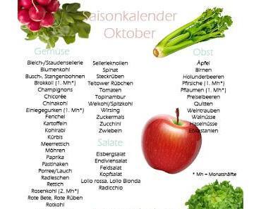 Saisonkalender: Obst und Gemüse im Oktober