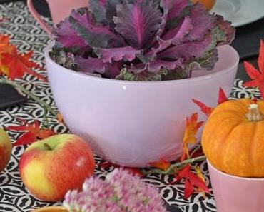 Herbstliche Tischdekoration am Deko-Donnerstag und jede Menge Gewinner !