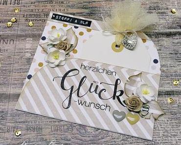 herzlichen Glückwunsch | Karte zur Hochzeit ♥ Mr. & Mrs.