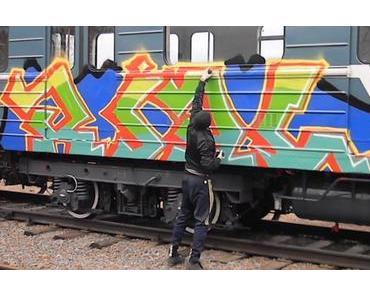 1520 – Train Graffiti in Moscow (Full Stream)