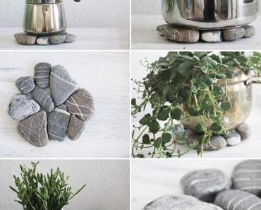 Urlaubssouvenir-Upcycling: DIY Steinuntersetzer