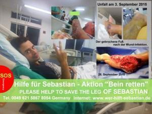 Notfall in Brasilien: Sebastian kämpft um nach einem Unfall um sein Bein