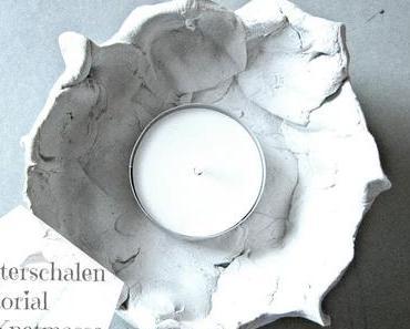 creadienstag - Lichterschalen aus Knetmasse - so einfach und so schön