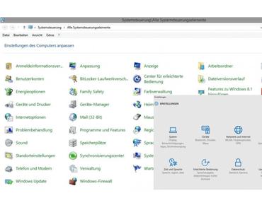 Systemsteuerung verschwindet aus Windows 10