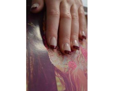Herbstlicher French Nail-Look
