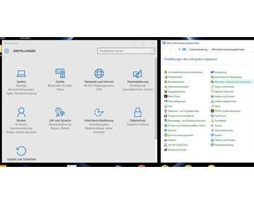 Das Ende der Systemsteuerung in Windows 10