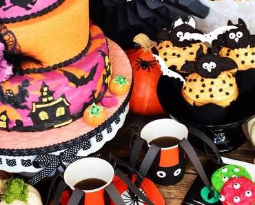 "Oreo Eulen Cupcakes mit Mango Frosting und Monster cookies - Halloween sweet table - ""Blueboxtree Parties"""