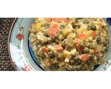Polnischer Gemüsesalat – vegetarisch mit Mayo